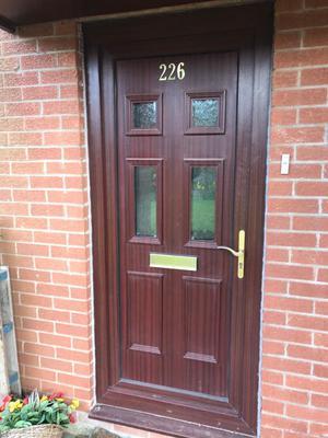 Pvc Front Door Side Panels Light Oak Posot Class