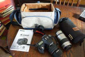 Pentax K Pentax lens and  Pentax lens plus bag