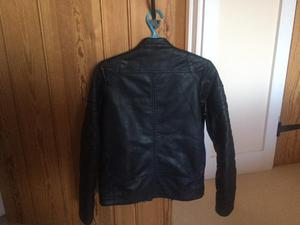 Boys faux leather next black jacket