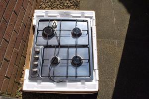 CDA Stainless Steel 4 burner gas hob