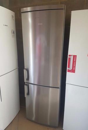Very Good Condition AEG Stainless Steel Fridge-Freezer. A+ Efficiency