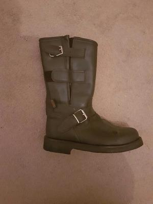 livergy biker genuine leather boots size 10 never posot