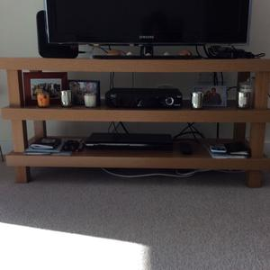 TV Stand with shelfs in excellent condition as seen on Images 120 x  cm high