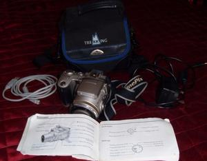Fuji FinePix Digital Camera with accessories, SD cards, batteries manual, carrying case