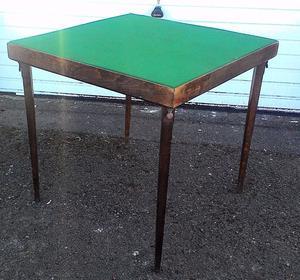 Vintage Vono Folding Card Table Posot Class
