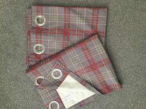 Next Red Grey Check Curtains Curtain Menzilperde Net