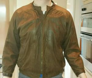Striwa Authentic Brown Leather Jacket