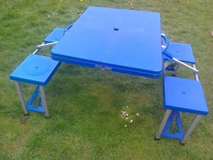 Portable Folding Picnic Table with 4 seats - Camping set