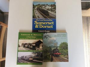 Three books on the Somerset and Dorset Railway