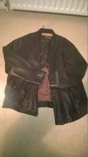 Boston Crew size XL Brown Leather Jacket - vgc