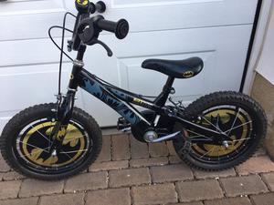 """Boys bike (Halfords Batman bike 16"""")"""