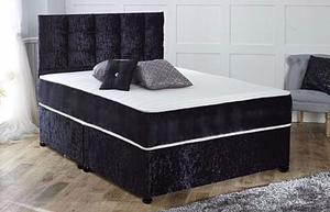 FREE AND FAST DELIVERY!! BRAND NEW CRUSHED VELVET DIVAN BED WITH MEDIUM FIRM MATTRESS