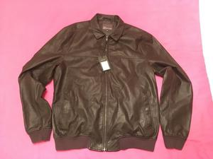 Next Brown Leather Jacket XL
