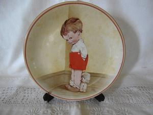 """Davenport pottery plate """"Thank God for Fido"""" limited edition"""