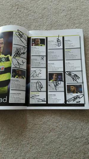 Hand Signed autographed Huddersfield Town