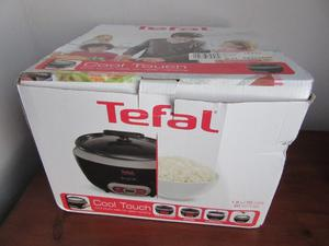 Tefal RKUK Cooltouch Rice Cooker, Steam Basket, Glass lid and Removable Bowl - Black