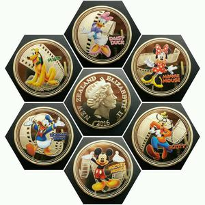 DISNEY CHARACTER'S Set of 6 Coins