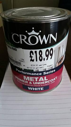 Crown WHITE metal primer
