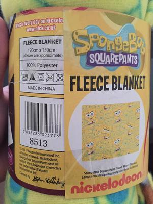 Spongebob Squarepants Fleece Blanket