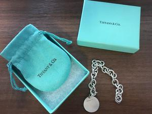 Tiffany & Co Classic Plain Round Tag 925 Link chain Bracelet