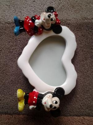 DISNEY Mickey Mouse and Minnie Mouse Heart shape Photo Holder Frame