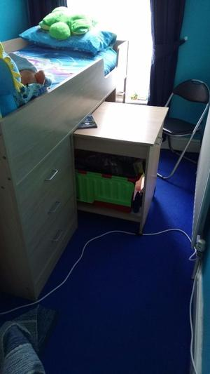 Cabin Bed With Pull Out Desk Stone Posot Class