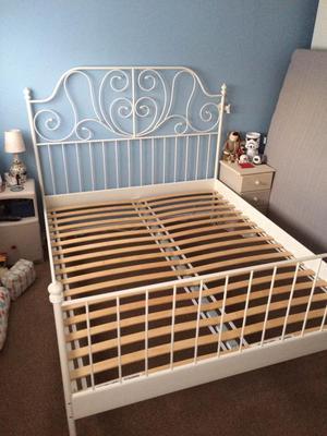 ikea bett leirvik swalif. Black Bedroom Furniture Sets. Home Design Ideas