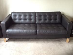 Ikea kramfors brown leather sofa in posot class for Ikea leather loveseat