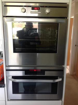 AEG fan oven / combi microwave