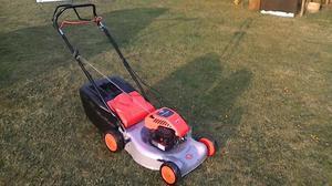 flymo self drive petrol lawnmower