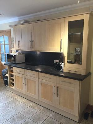 Full Howdens kitchen including appliances, integrated dishwasher,fridge, double oven and hob
