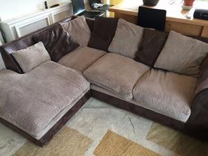 Used Modern sofa set - 2.5 Seat Corner Chaise/Sofa + 2 Seater Sofa (Low Price!) (Collection Only)