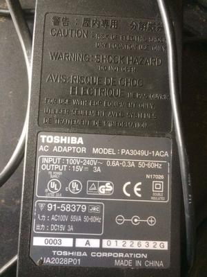 Genuine Original Toshiba PAU-1ACA AC Adaptor 15V 3A Laptop Charger