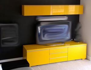 Ikea tv bench besta burs high gloss red posot class for Ikea storage bin unit