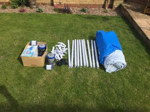 BESTWAY STEEL PRO 10ft POOL C/W ELECTRIC PUMPS & FILTERS.