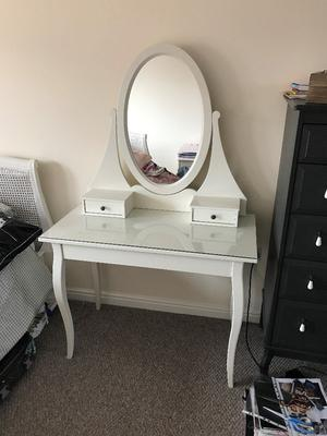 White ikea hemnes dressing table with mirror posot class - Hemnes dressing table with mirror white ...