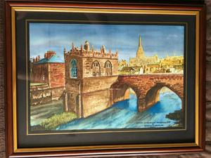 Framed old Rotherham prints by artist Peter David Bradshaw limited editions