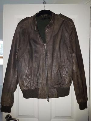 Allsaints brown leather size xl