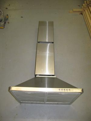 For Sale: Vented chimney style stainless steel cooker/range hood £15