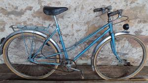 Vintage Retro French Ladies Peugeot Checkered Blue Ladies Town Bike Cycle Bicycle