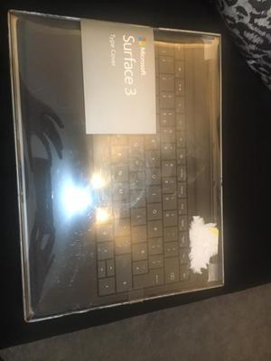 Microsoft surface 3 type cover keyboard in black