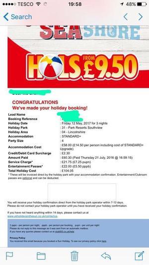 LAST MIN HOLIDAY £70 Lincolnshire / Skegness