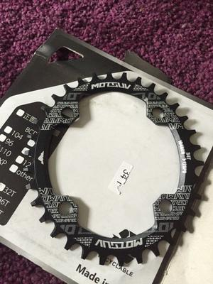 Oval Narrow Wide 34t Chainring