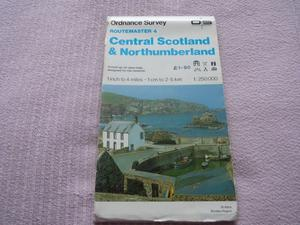 OS Routmaster 4 map of Central Scotland & Northumberland