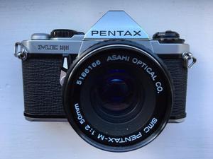Pentax ME Super 35mm SLR camera with 50mm lens