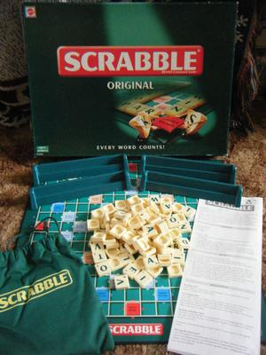 (Scrabble Original) word board game. By Mattel games . Complete.