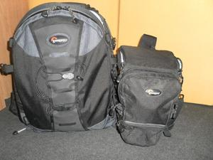 1 Lowepro Trekker AWII  Bag with removable dividers, Lowepro camera & Lens Bag, Vanguard tripod
