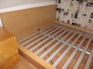 Ikea Malm double bed frame and slats, no mattress, BARGAIN
