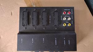 Manual scart switcher 3 devices to 1 socket