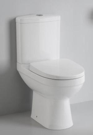 Complete toilet,seat and cistern with accessories